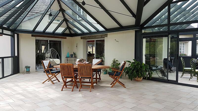 veranda sur terrasse en hauteur construire une veranda sur terrasse et verriere imagen. Black Bedroom Furniture Sets. Home Design Ideas